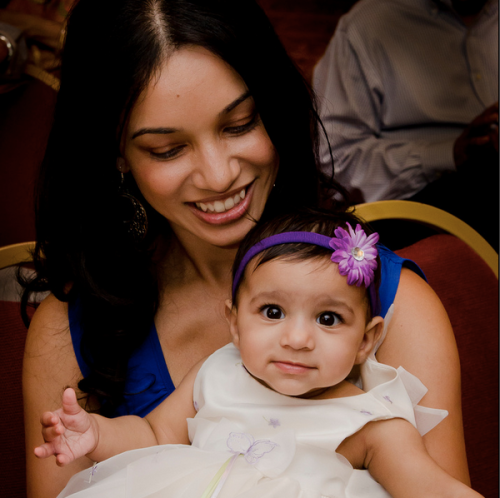 Mommy and Anaiya PNG